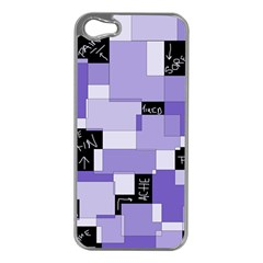 Purple Pain Modular Apple Iphone 5 Case (silver) by FunWithFibro