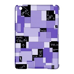 Purple Pain Modular Apple Ipad Mini Hardshell Case (compatible With Smart Cover) by FunWithFibro