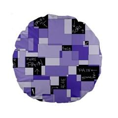 Purple Pain Modular 15  Premium Round Cushion  by FunWithFibro