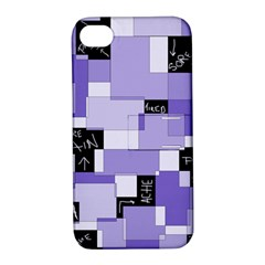 Purple Pain Modular Apple Iphone 4/4s Hardshell Case With Stand by FunWithFibro