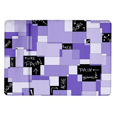 Purple Pain Modular Samsung Galaxy Tab 10 1  P7500 Flip Case by FunWithFibro