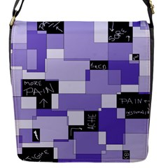 Purple Pain Modular Flap Closure Messenger Bag (small) by FunWithFibro