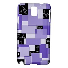 Purple Pain Modular Samsung Galaxy Note 3 N9005 Hardshell Case by FunWithFibro