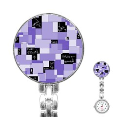 Purple Pain Modular Stainless Steel Nurses Watch by FunWithFibro