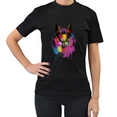 Mr Owl Women s T Shirt (black) by Contest1836099