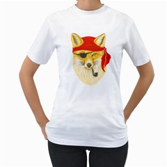 Foxy Pirate Women s T Shirt (white)  by Contest1836099