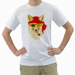 Foxy Pirate Men s T Shirt (white)  by Contest1836099