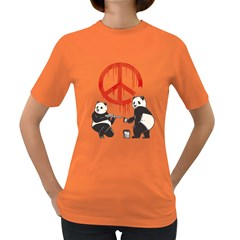 Pandalism 2 Peace Sign Women s T Shirt (colored)