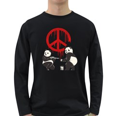 Pandalism 2 Peace Sign Men s Long Sleeve T Shirt (dark Colored)