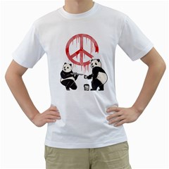 Pandalism 2 Peace Sign Men s T-Shirt (White)  by Contest1836099