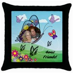 Friends black pillow case - Throw Pillow Case (Black)