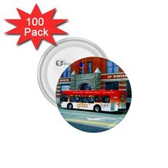 Double Decker Bus   Ave Hurley   1 75  Button (100 Pack) by ArtRave2