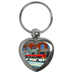 Double Decker Bus   Ave Hurley   Key Chain (Heart)