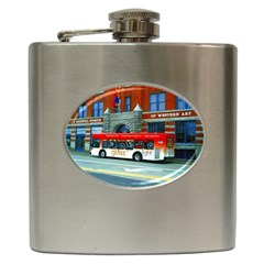 Double Decker Bus   Ave Hurley   Hip Flask by ArtRave2