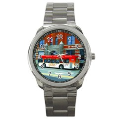 Double Decker Bus   Ave Hurley   Sport Metal Watch by ArtRave2
