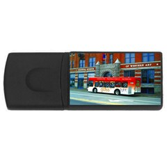 Double Decker Bus   Ave Hurley   4gb Usb Flash Drive (rectangle) by ArtRave2