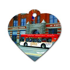 Double Decker Bus   Ave Hurley   Dog Tag Heart (two Sided) by ArtRave2