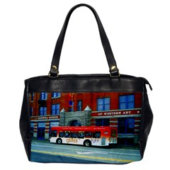 Double Decker Bus   Ave Hurley   Oversize Office Handbag (one Side) by ArtRave2