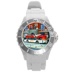 Double Decker Bus   Ave Hurley   Plastic Sport Watch (large) by ArtRave2