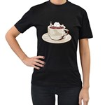 Tea Time Women s T-shirt (Black) Front