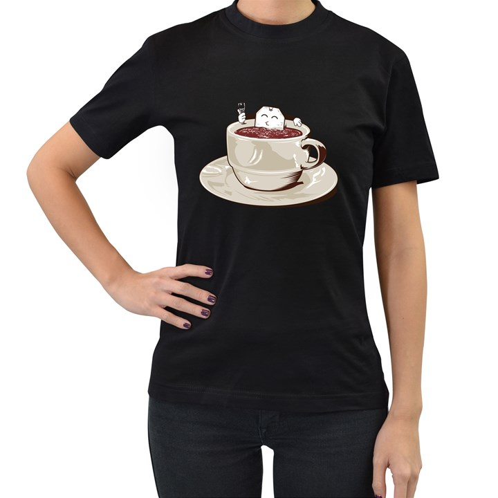 Tea Time Women s T-shirt (Black)