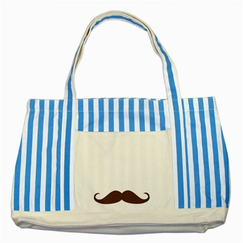 Dad By Anita   Striped Blue Tote Bag   Itdliit1im1k   Www Artscow Com Front