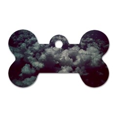 Through The Evening Clouds Dog Tag Bone (one Sided)