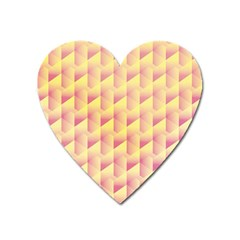 Geometric Pink & Yellow  Magnet (heart)