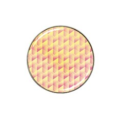 Geometric Pink & Yellow  Golf Ball Marker (for Hat Clip) by Zandiepants