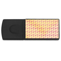 Geometric Pink & Yellow  4gb Usb Flash Drive (rectangle) by Zandiepants