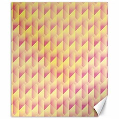 Geometric Pink & Yellow  Canvas 8  X 10  (unframed) by Zandiepants