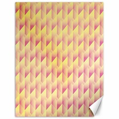 Geometric Pink & Yellow  Canvas 12  X 16  (unframed) by Zandiepants