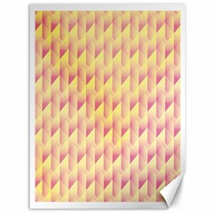Geometric Pink & Yellow  Canvas 36  X 48  (unframed) by Zandiepants