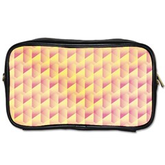 Geometric Pink & Yellow  Travel Toiletry Bag (one Side) by Zandiepants