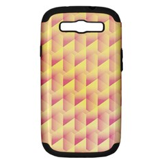 Geometric Pink & Yellow  Samsung Galaxy S Iii Hardshell Case (pc+silicone) by Zandiepants
