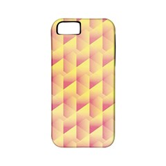 Geometric Pink & Yellow  Apple Iphone 5 Classic Hardshell Case (pc+silicone) by Zandiepants