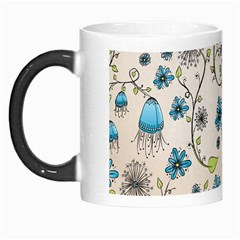 Whimsical Flowers Blue Morph Mug by Zandiepants