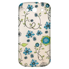 Whimsical Flowers Blue Samsung Galaxy S3 S Iii Classic Hardshell Back Case by Zandiepants