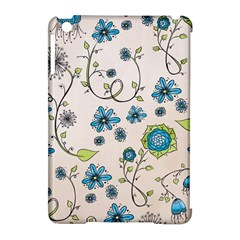 Whimsical Flowers Blue Apple Ipad Mini Hardshell Case (compatible With Smart Cover) by Zandiepants