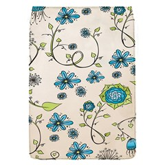 Whimsical Flowers Blue Removable Flap Cover (small) by Zandiepants