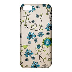 Whimsical Flowers Blue Apple Iphone 5c Hardshell Case by Zandiepants