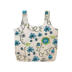 Whimsical Flowers Blue Reusable Bag (s) by Zandiepants