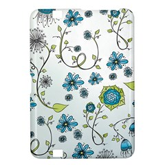 Blue Whimsical Flowers  On Blue Kindle Fire Hd 8 9  Hardshell Case by Zandiepants
