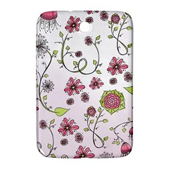 Pink Whimsical Flowers On Pink Samsung Galaxy Note 8 0 N5100 Hardshell Case  by Zandiepants
