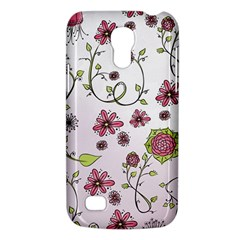 Pink Whimsical Flowers On Pink Samsung Galaxy S4 Mini (gt I9190) Hardshell Case  by Zandiepants