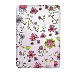 Pink Whimsical Flowers On Pink Samsung Galaxy Tab 2 (10 1 ) P5100 Hardshell Case  by Zandiepants