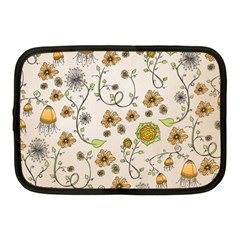 Yellow Whimsical Flowers  Netbook Sleeve (medium) by Zandiepants