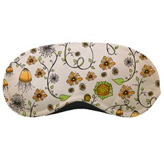 Yellow Whimsical Flowers  Sleeping Mask by Zandiepants