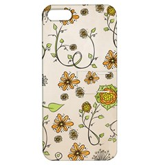 Yellow Whimsical Flowers  Apple Iphone 5 Hardshell Case With Stand by Zandiepants