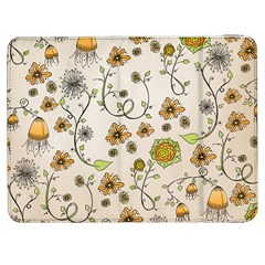 Yellow Whimsical Flowers  Samsung Galaxy Tab 7  P1000 Flip Case by Zandiepants